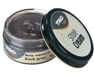 Крем - краска для обуви и изделий из кожи темно серый Trg Shoe Cream, 50 мл