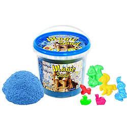 Кинетический песок Strateg Magic sand голубого цвета, ведро 1 кг SKL11-237265