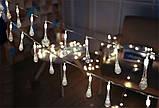 Светодиодная гирлянда на солнечной энергии Хрустальная капля белая 50 LED, фото 2