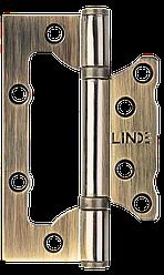Петля дверная накладная (узкая) Linde HB-100S AB, старая бронза