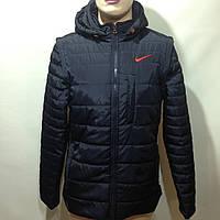 Мужская весенняя  куртка трансформер легкая синяя