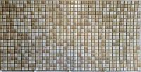 Пластикова листова стінова панель ПВХ Grace Мозаїка коричнева з визерунком 0,3мм 955*480 мм