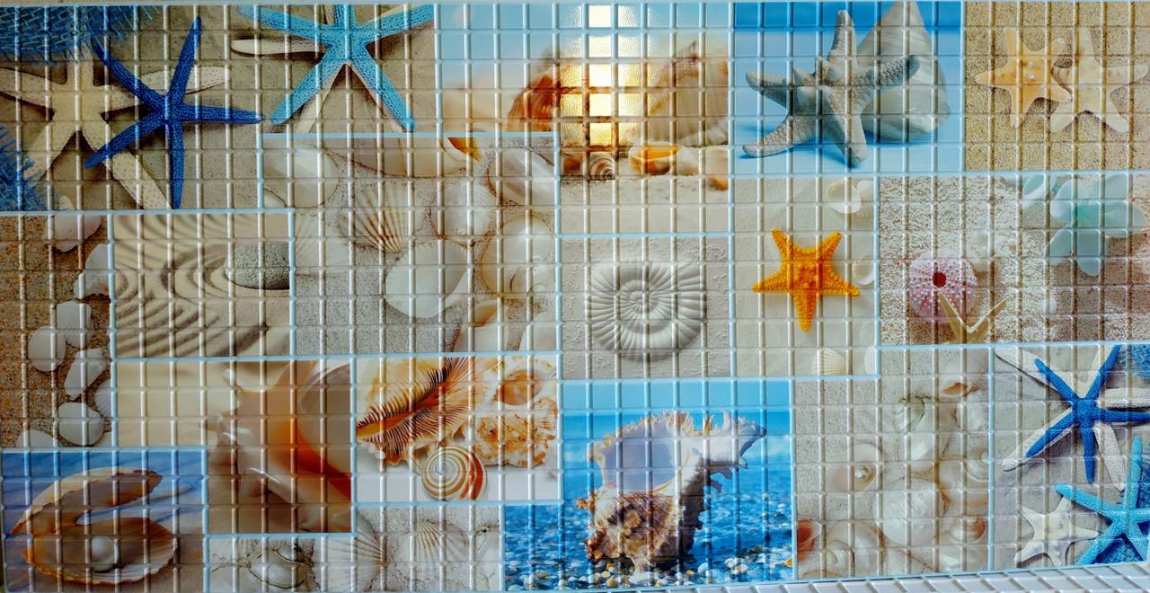 Панелі ПВХ Грейс Пляж 0,3мм 955*480 мм