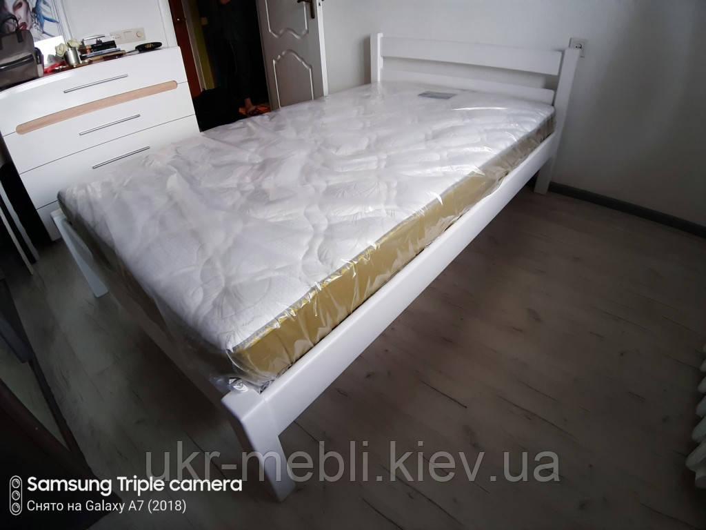 Кровать деревянная полуторная Милан 120*190/200, массив