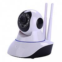 IP Камера видео-наблюдения с ночным видением. WI-FI камера, онлайн, поворотная. Разрешение видео: 1280×720 HD.
