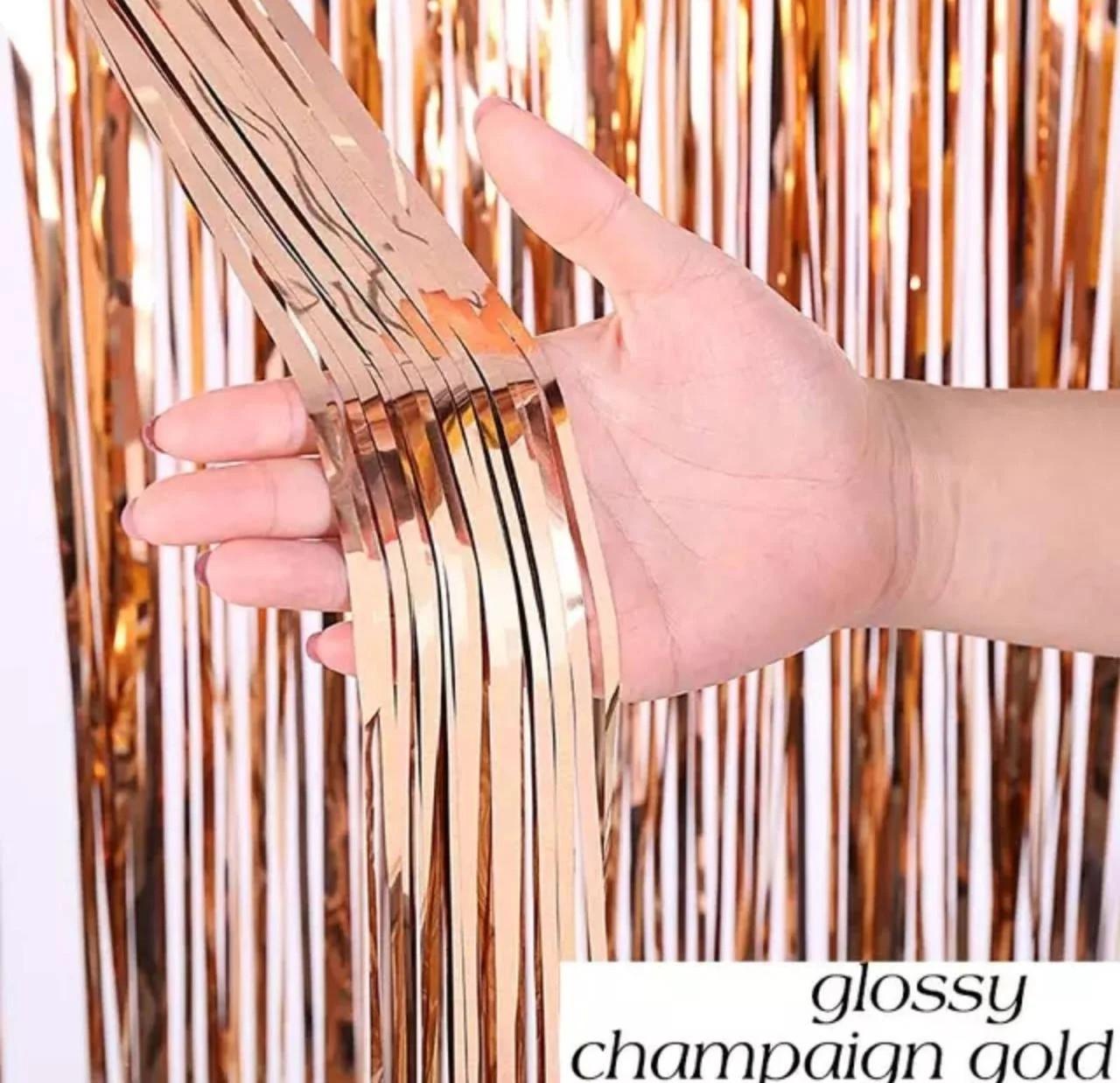 Шторка занавес из фольги для фото зон цвет Шампань 1х2 метра