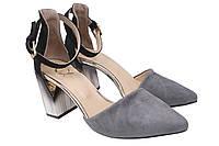 Туфли женские Aquamarin натуральная замша, цвет серый, размер 36-40 Турция