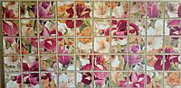 Пластикова листова стінова панель ПВХ Грейс Grace Бордові Іриси 0,3мм 964*484 мм
