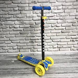 Детский самокат Scooter Big Wheel SL 8B складная ручка