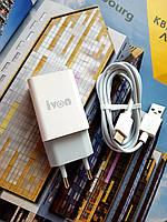 Зарядное устройство для смартфона оригинального качества с кабелем tipe-c в комплекте iVon AD-33