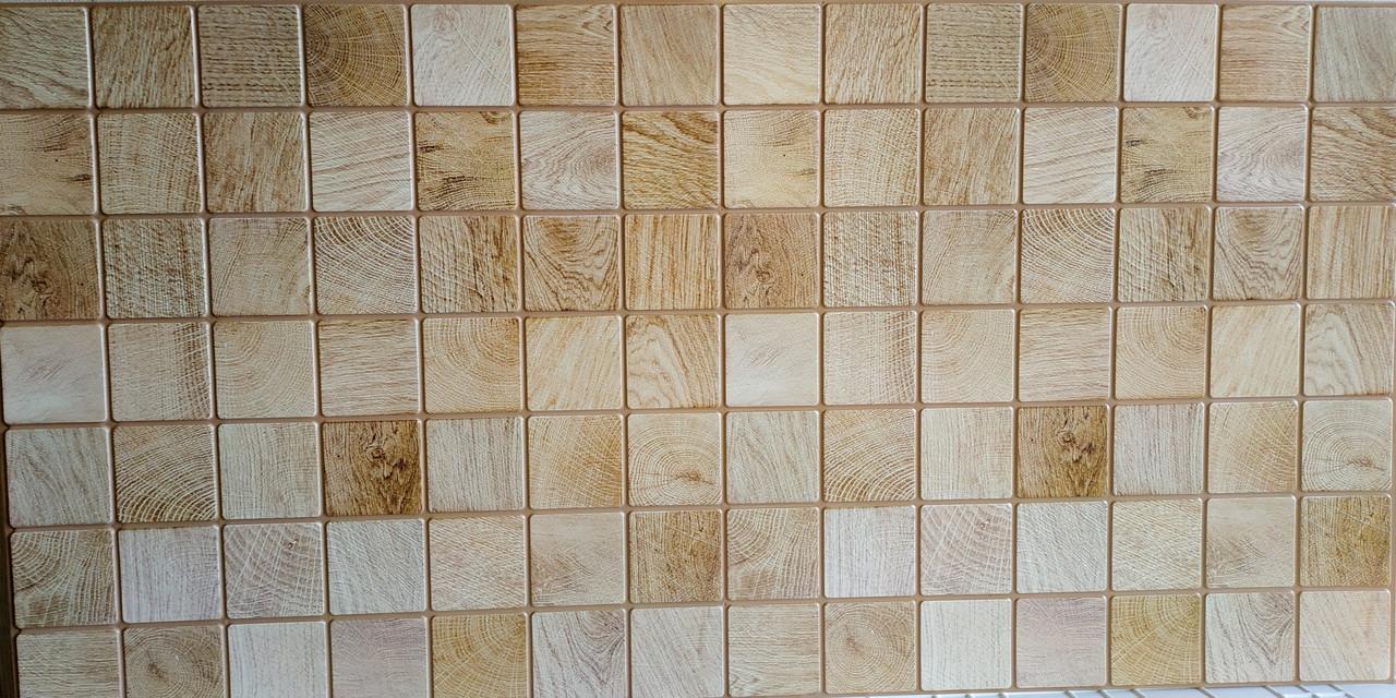 Пластикова листова стінова панель ПВХ Грейс Grace Брус вибілений 0,3мм 955*480 мм