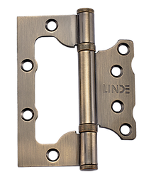 Петля дверная накладная Linde HB-100 AB, старая бронза