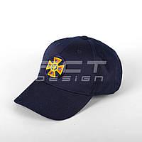 Бейсболка кепка ГСЧС/ ДСНС с кокардой темно-синяя