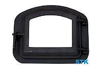 Дверца чугунная STK 1 для печи и камина со стеклом (430х350 мм), фото 1