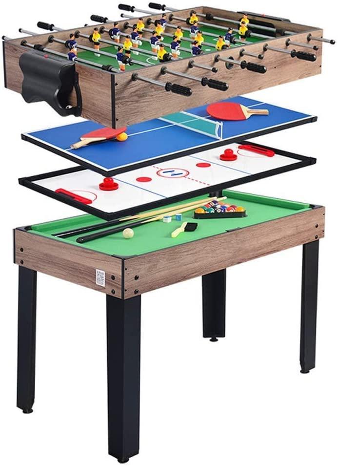 Ігровий стіл Super Fun 4 В 1 - Аерохокей, Настільний футбол, Міні більярд