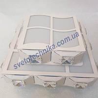 Настенно потолочный квадратный светильник 4009
