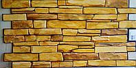 Пластикова листова стінова панель ПВХ Грейс Grace Сланець пісочний 0,3мм 980*498 мм, фото 1