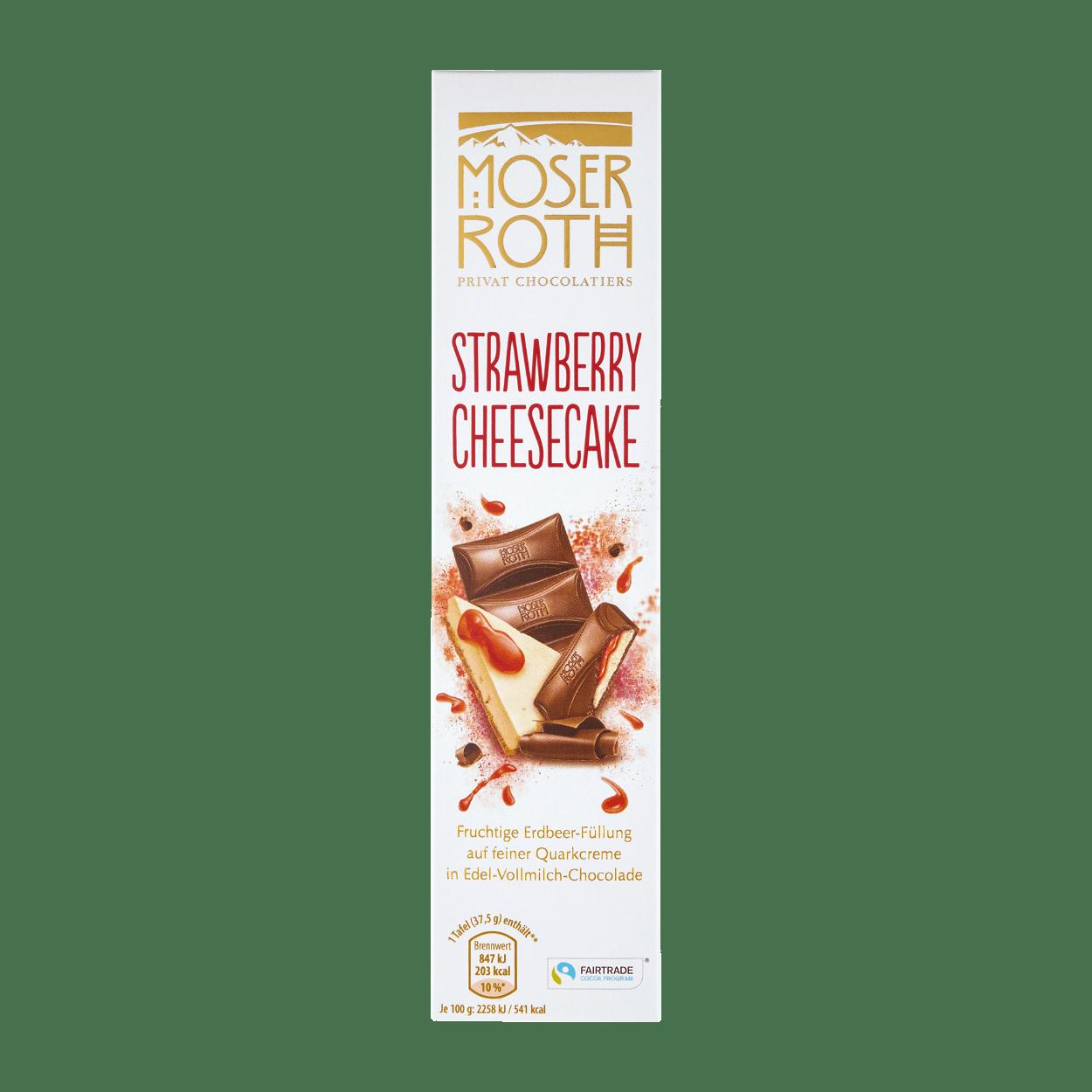 Шоколад Moser Roth strawberry cheesecake, 75 грамм