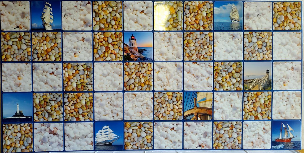 Пластикова листова стінова панель ПВХ Грейс Grace Море 0,3мм 955*480 мм