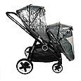 Універсальна коляска для двійні Babyzz Династія 2 в 1 (сіра) + 2 прогулянкових блоки і 2 люльки, фото 10