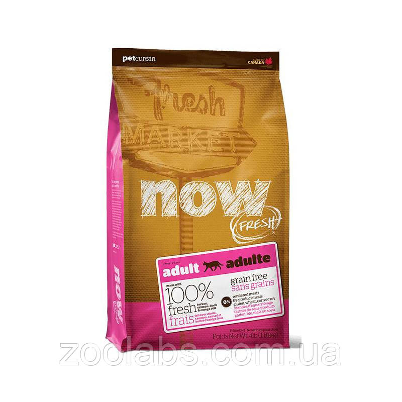 Сухой корм Now для кошек | Now Fresh Adult Cat Grain Free 3,63 кг