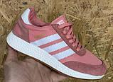 Женские розовые беговые кроссовки, для зала в стиле Adidas iniki runner, фото 6