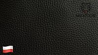 Кожзам мебельная ткань для обивки мягкой мебели стульев кресел Польша ширина 1,4  черный
