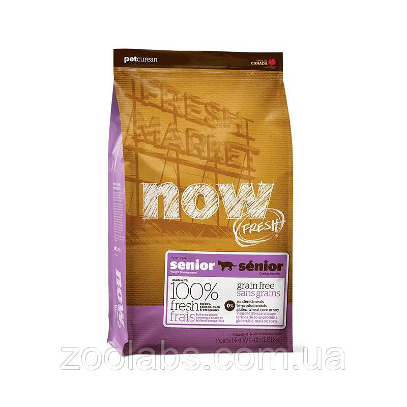 Сухой корм Now для пожилых кошек   Now Fresh Senior Cat Grain Free 1,81 кг