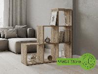 Стеллаж лесенка для дома на 3 ступени из ДСП, полка для книг (4 ЦВЕТА) / Сделаем по Вашим размерам!