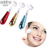 Ультразвуковая щетка для умывания и чистки лица Pobling face cleaner обороты 10000 в мин, от батареек, щетинки 0,07мм, щетка для чистки лица