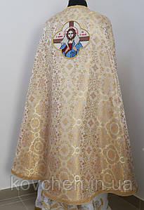 Священичі ризи з вишитою іконою, золотий