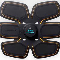 Пояс тренажер для пресса - миостимулятор пресс EMS Trainer 3в1 от аккумулятора/батареи, 15 режимов, миостимулятор, пояс миостимулятор