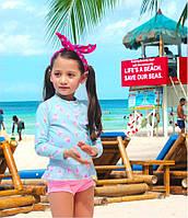 Купальный комплект для девочки Мороженое, купальник, фото 1
