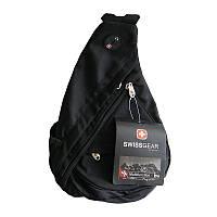 Городской рюкзак через плечо SwissGear Sling Small черный, размер 39х26х16см, лямка с застежкой, Городской рюкзак