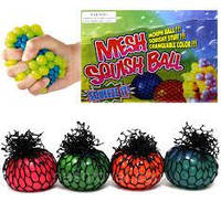 Детская игрушка антистресс - лизун Мяч 6см, разные цвета, в сетке, Игрушка антистресс, Мячик антистресс, мячик