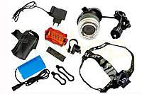 Ліхтарик для велосипеда і налобний BL-B02B Т6 від акумулятора, задній ліхтар, Stop фара, велосипедні ліхтарі