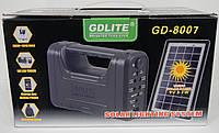 Аварійний ліхтар GD-LIGHT GD-8007 з сонячною батареєю, 4000мАч, 9V, три лампи, 3-7W, Сонячні системи