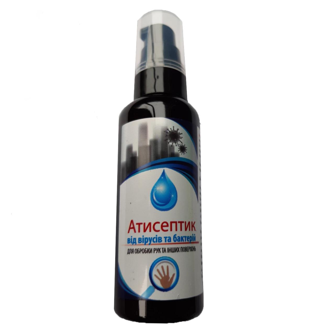 Спиртовой антисептик для обработки рук и кожных покровов, дозатор 60мл, антибактериальное средство