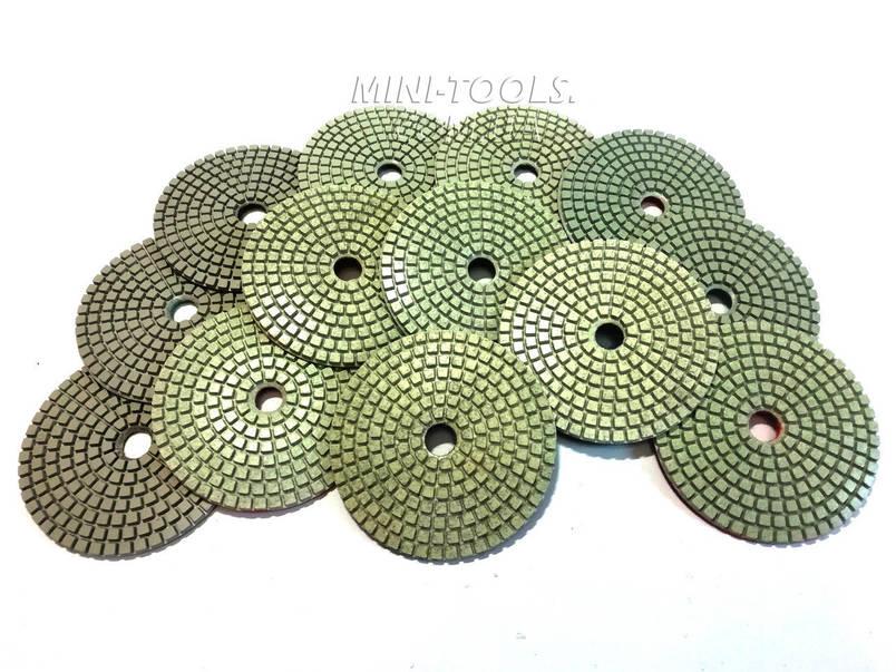 Черепашка D-100мм. зерно #800. Алмазний гнучкий шліфувальний круг YDS Tools, фото 2