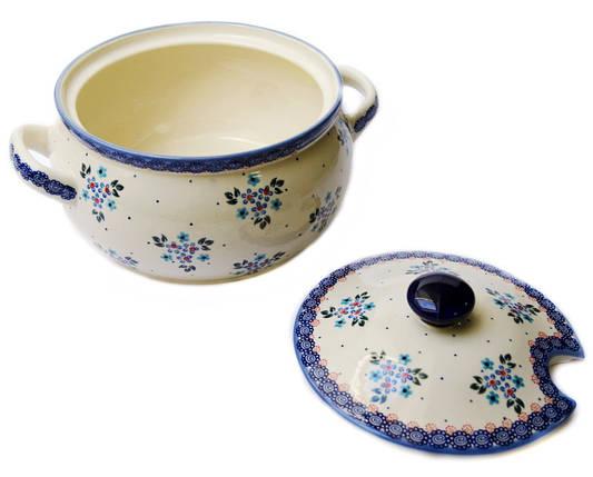 Керамическая форма супница с крышкой 2,5L Blue Chintz, фото 2