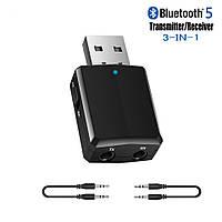 Bluetooth AUX аудио 3,5 передатчик и приемник (ресивер/трансмиттер) 3 в 1 в авто и телевизор