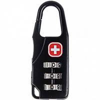 Кодовый замок для рюкзаков Swiss Army размер 57x22x8 мм, черный, рюкзак, кодовый замок, кодовый замок дорожный, замок