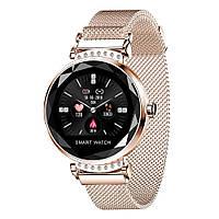 Cмарт-часы с металлическим ремешком Smart Watch Н-2С Golden