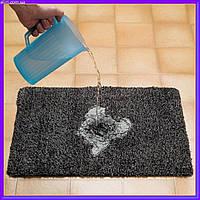 Придверні супер всмоктуючий килимок Clean Step Mat розмір 70х45см, не ковзає, придверні килимки, Clean Step Mat