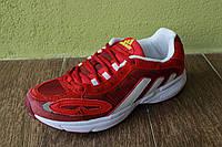 Мужские кроссовки adidas galaxy красные на шнурке Топ-реплика