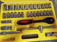 Набор торцевых головок с трещоткой Ремонтник в пластиковом кейсе 31шт, 1/2 дюймов, хром, наборы торцевых головок