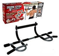 Универсальный турник Iron Gym в дверной проём, сталь, до 90кг, черный, турник, турник iron gym, турники для дома, Iron gym