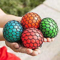 """Мяч массажный антистресс """"Мозги"""" разные цвета, диаметр 7см, полиуретан, мячик, мячи детские, мини мяч, антистресс, игрушки"""