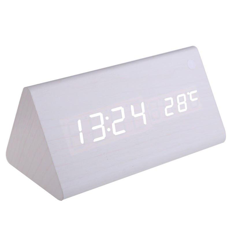 Настольные электронные часы под дерево VST-861 с будильником, датой и термометром