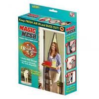 Сетка москитная на дверь Magic Mesh MIX №A2 на магнитах 7шт, размер 90х210см, москитная сетка, Magic Mesh, антимоскитная сетка